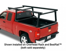 Red truck with rack